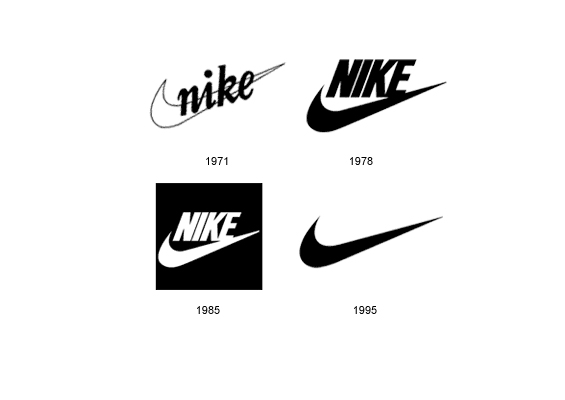 evolution of nike logo wwwpixsharkcom images