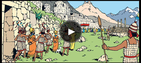 The Adventures Of Tintin Prisoners Sun